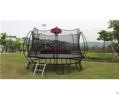 Outdoor Trampoline 1backboard Enclosure Jumping Mat Safety Net