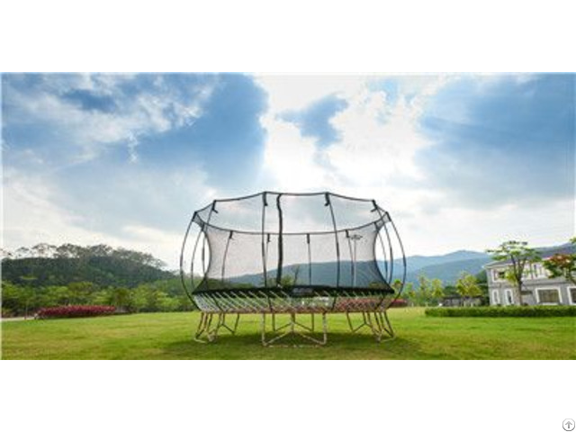 Trampoline With Enclosure Net Basketball