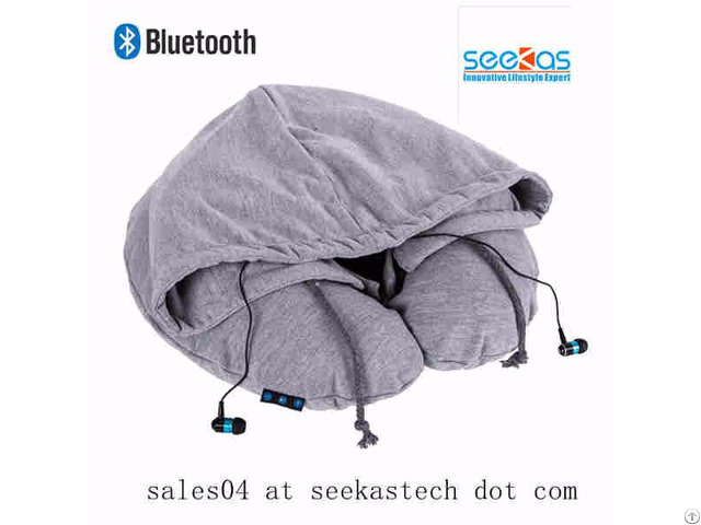 Hoodie Pillow With Bluetooth Headphone Inside