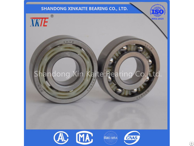Xkte Brand Nylon Retainer 6306tn C3 Conveyor Idler Bearing For Mining Machine Made In China