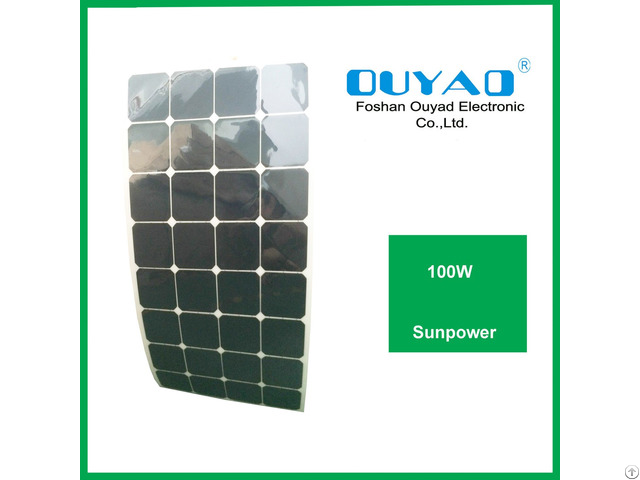 Factory Price 100w Sunpower Flexible Solar Panel