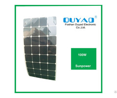 Factory Price 100w Sunpower Flexible Solar Panel