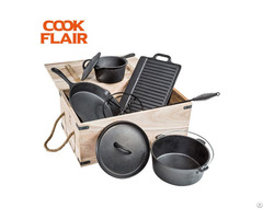 Cast Iron Cookware 7pcs Set
