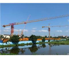 Qtp125 Tct6513 Max Load 6t Or 8t Maxjib Length 65m Topless Tower Crane