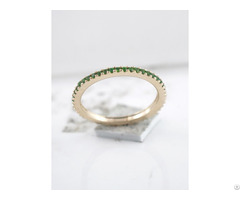 Chrome Diopside Band Ring 18k Gold Plated Manufacturing