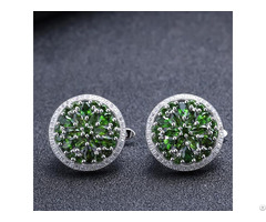 Chrome Diopside Customized Stud Earring