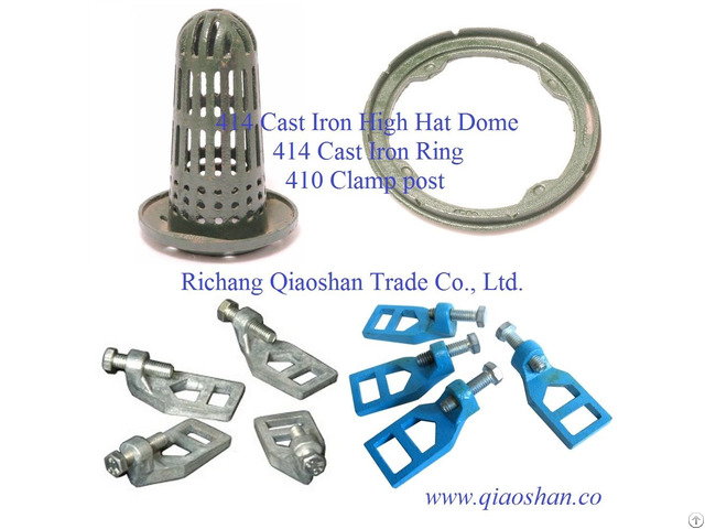Qsf414 Cast Iron High Hat Dome 414 Ring 410 Clamp Post For Roof Drainage