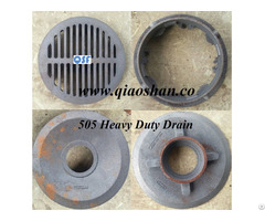 """Z505 12"""" Area Cast Iron Heavy Duty Drain"""