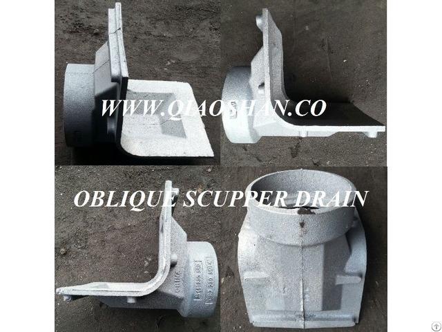 Z187 Oblique Scupper Drain Cast Iron Body
