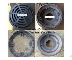 Z121 Series Cast Iron Roof Drain With No Hub Push On Outlet For Drainage