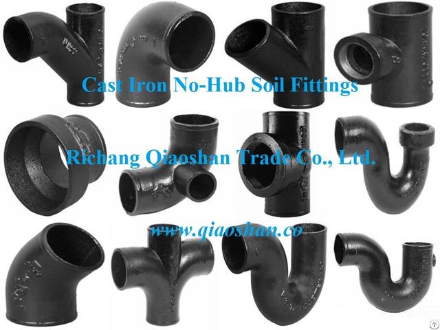 Cispi 301 Astm A888 No Hub Cast Iron Soil Fittings