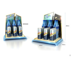 Customized High End Beverage Plastic Countertop Display
