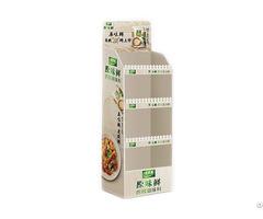 Customized Promotional Corrugated Paper Seasoner Floor Display Stand Dumpbin Standee