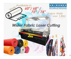 Wider Fabric Laser Cut Sublimation Printed Fabrics Cutting