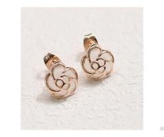 Pink Opal Customized Stud Earring