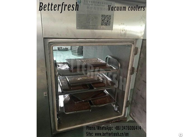 Customized Bakery Cooked Vacuum Cooler Rapid Cooling With Double Door