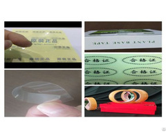 Plant Based Fully Degradable Label Sealing Tape