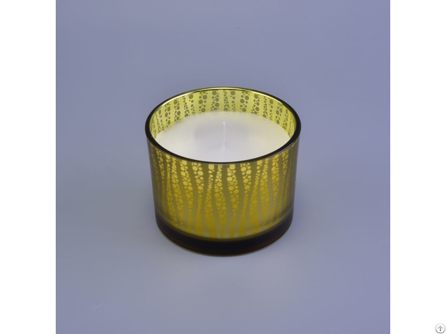 Luxury 3 Wicks Glass Candle Jar For Home Decoration
