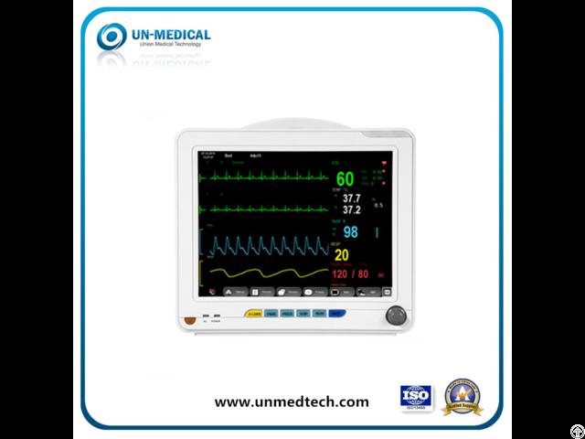 Medical Equipment 12 1 Inch Multi Parameter Blood Icu Vital Sign Ecg Etco2 Patient Monitor