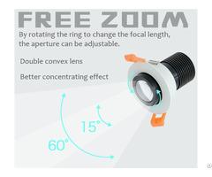 Full Spectrum Free Zoom Led Downlight