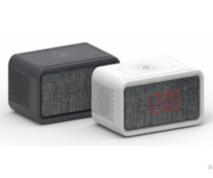 Qi Alarm Clock Radio With Bt Speaker