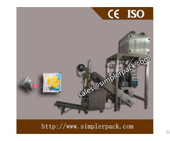 Pyramid Nylon Tea Bag Packing Machine With Outer Envelope