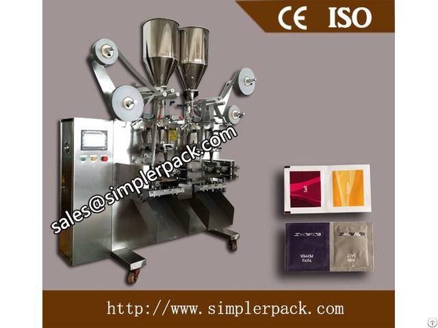 Automatic Granules Packing Machine 3 Sides Sealing 4 Lanes