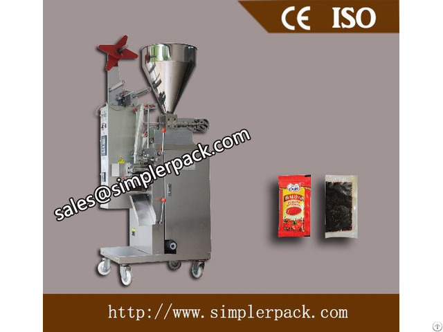 Thick Liquid Spices Tomato Ketchup Packaging Machine