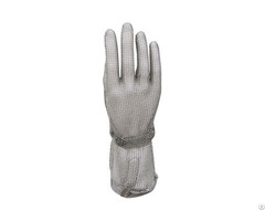 Stainless Steel Mesh Safety Work Gloves With Long Cuff Smg 005