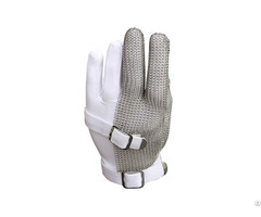 Stainless Steel Mesh Three Finger Safety Work Gloves Smg 002