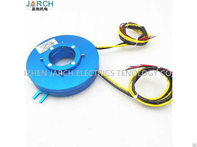 Jarch 18 Circuits 25mm Thickness Through No Hole Flat Slip Ring For Rotary Table