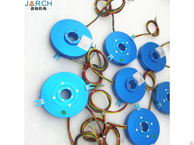Electrical Pancake Slip Rings Motor Assembly With Through Bore Size 12 7 Mm