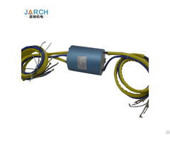 High Speed Rotary Joint Bore 38 1mm 2 24 Conductors Circuits Through Hole Hollow Slip Ring