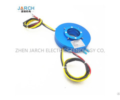 Through Bore Electrical Rotary Joint Revolving Door Use Pancake Slip Ring