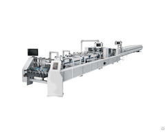 A Zh 850h Automatic Small Box Gluer High Quality Folding Carton Gluing Machine