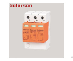 1000vdc Surge Protective Device Spd Type Ii 3p For Solar System Imax 40ka