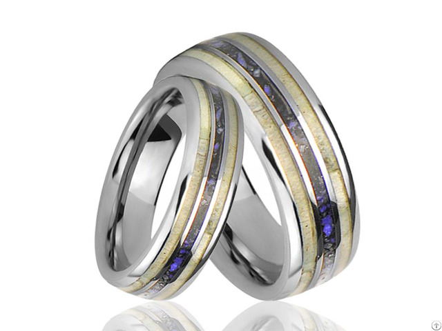 Lapis Lazuli Lady S Rhodium And Gold Planted Band Ring