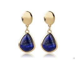 Lapis Lazuli Customized Solitaire Earring