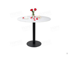 Tables Black Metal Base White Marble Dining Table Top