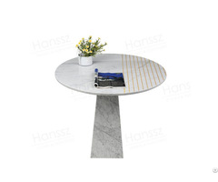 Italian Stone Counter Top Pedestal Set Luxury Marble Dining Table