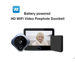 Wifi Battery Peephole Video Doorbell With 7inch 720 Pixel Monitor Tl Wf04