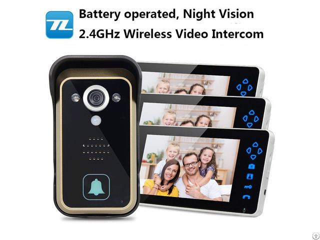 Wireless Video Door Phone Clear Night Vision Motion Detection