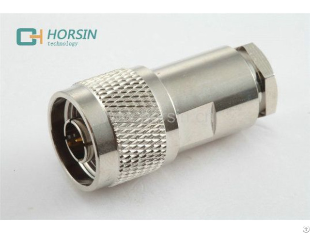 Low Pim N Type Male Connector For 1 2 3 8 Feeder Coaxial Cable