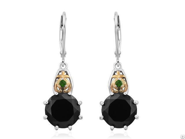 Black Spinel And Chrome Diopisde Customized Earring