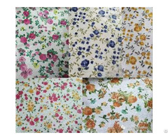 Printed Floral Glitter Synthetic Leather With Flowers Pattern