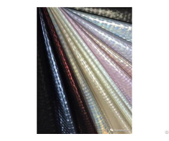 Fashion Shining Laser Film Tpu Pu Synthetic Leather