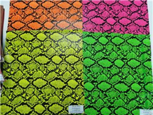 Bh4592 Multi Color Embossing Snake Print Synthetic Leather 0 9mm 54