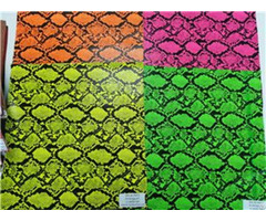 Bh4592 Multi Color Embossing Snake Print Synthetic Leather 0 9mm 54""