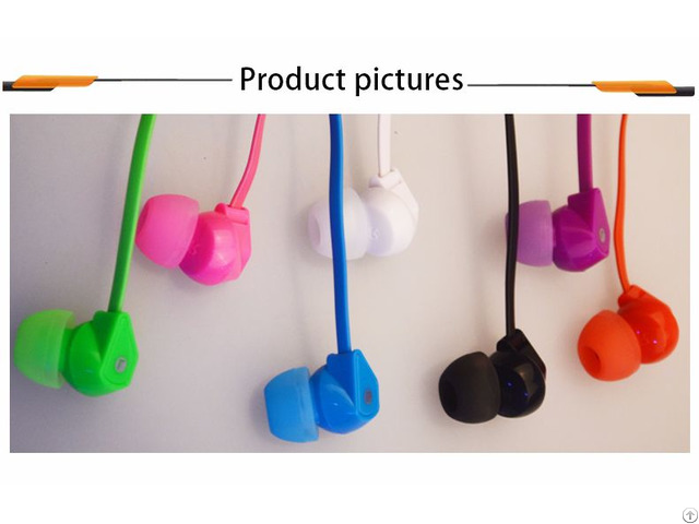 Hifi Stereo Plastic Cheap In Ear Noodle Cable Earbuds Custom Colorful Earphone With Mic