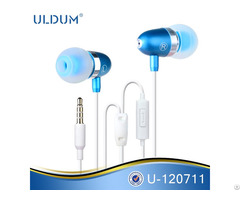 Earphone Bullet Head Shaped Cheap Stylish Super Bass Sound Earbuds With Mic For Mp3 Smartphone